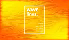 Abstract Wave Background. Movement Abstract. Wave Stripes. Geometric Template with Distorted Lines and Gradient. Flow Background in Minimal Style. Eps10 Vector stock illustration