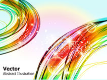 Abstract wave background with sparkle Royalty Free Stock Image