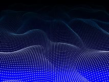 Abstract wave blue background. Wavy structure with dots. Vector. Abstract wave background. Wavy structure with dots. Vector illustration Royalty Free Stock Photo