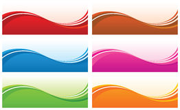 Abstract wave backgrounds.