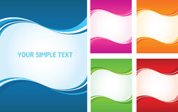 Abstract Wave Backgrounds Royalty Free Stock Photography