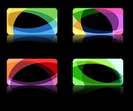 Abstract wave backgrounds collection Stock Images