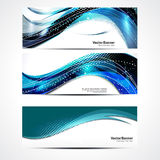 Abstract Wave Banner Set Stock Image