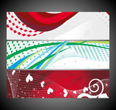 Abstract wave banners multi-colored Stock Image