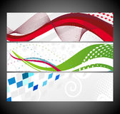 Abstract wave banners multi-colored Royalty Free Stock Photography