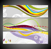 Abstract wave banners multi-colored Royalty Free Stock Images