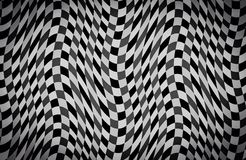 Abstract Wave black and white color background Stock Photography