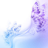 Abstract wave blue purplr background with Stock Images