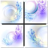 Abstract wave blue purplr background with Royalty Free Stock Photo