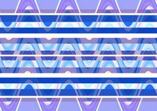 Abstract wave blue white purple color wallpaper Royalty Free Stock Photo