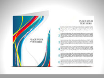 Abstract wave brochure Stock Photo