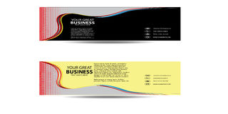 Abstract Wave Business Banner New Stock Photography