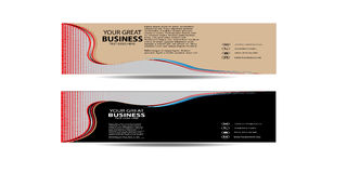 Abstract Wave Business Banner New Royalty Free Stock Photography