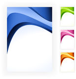 Abstract wave business template in 4 colour scheme Royalty Free Stock Images