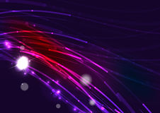 Abstract wave color glowing lines in dark space Royalty Free Stock Photo