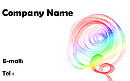 Abstract wave company card Royalty Free Stock Photos