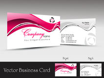 abstract wave concept business card, vector illust Stock Photos