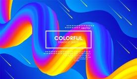 Abstract 3d Background. Colorful Wave Fluid Shape. Abstract Wave 3d Background with Colorful Liquid. Vector Illustration. Trendy 3d Fluid Design for Business Stock Illustration