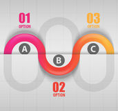 Abstract wave data infographics template Royalty Free Stock Photography