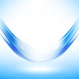 Abstract wave design element. Blue wavy lines Stock Photography