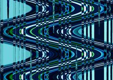 Abstract wave distortion blue color wallpaper Stock Image