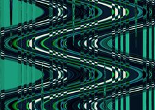 Abstract wave distortion green color wallpaper Royalty Free Stock Images