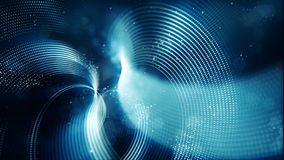 Abstract wave with dots and line blue color background.  stock illustration