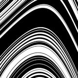 Black and White Wave Stripe Optical Abstract Background. Abstract Wave Element for Design, Stylized Line Art Background,  Curved Wavy Line, Smooth Wave Stripe Stock Images