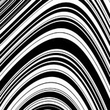 Black and White Wave Stripe Optical Abstract Background. Abstract Wave Element for Design, Stylized Line Art Background,  Curved Wavy Line, Smooth Wave Stripe Royalty Free Stock Image