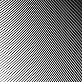 Black and White Wave Stripe Optical Abstract Background. Abstract Wave Element for Design, Stylized Line Art Background,  Curved Wavy Line, Smooth Wave Stripe Royalty Free Stock Photo