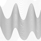 Abstract wave element for design. Stylized line art background. Vector illustration. Curved wavy line, smooth stripes. Abstract wave element for design Stock Images