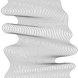 Abstract wave element for design. Stylized line art background. Vector illustration. Curved wavy line, smooth stripes. Abstract wave element for design Royalty Free Stock Images