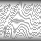 Abstract wave element for design. Stylized line art background. Vector illustration. Curved wavy line, smooth stripes. Abstract wave element for design Stock Photography