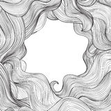 Abstract wave frame background Hair outline stripe pattern. Stock Photos