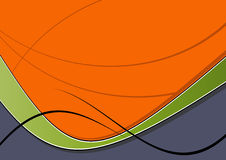 Abstract Wave Graphic. Abstract wave illustration for background Stock Photos