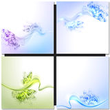 Abstract wave green background with butterfly Royalty Free Stock Photography