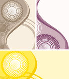 Abstract wave halftone backgund Stock Photos