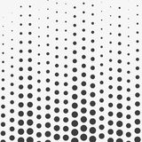 Abstract Wave halftone dots. Black dots on white background. Vector illustration. Abstract Wave halftone dots. Black dots on white background. Vector Stock Image