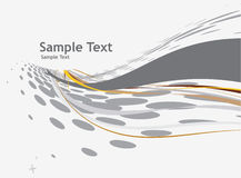 Abstract wave halftone line background Stock Photography