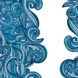 Abstract wave hand-drawn pattern. seamless texture vector illustration