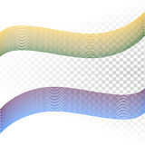 Abstract wave isolated on transparent background   Royalty Free Stock Photography