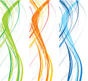 Abstract wave line background vector illustration