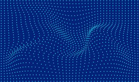 Abstract wave line. Blue line pattern. Abstract waves and dots background. Vector illustration stock illustration
