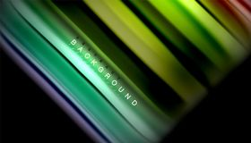 Fluid mixing colors, vector wave abstract background. Abstract wave lines fluid rainbow style color stripes on black background. Vector artistic illustration for Royalty Free Stock Photos