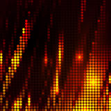 Abstract wave mosaic background red and orange. Fire concept Royalty Free Stock Photography