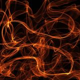 Abstract wave motion of colorful glowing lines on dark background. Abstract wave motion of gold, orange, glowing lines on dark background for creative, dynamic royalty free illustration
