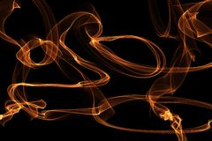 Abstract wave motion glowing lines on dark background Stock Images