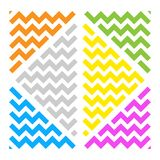 Abstract wave ornament color triangles white bg royalty free illustration