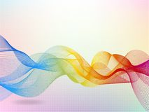 Abstract wave rainbow colored background Stock Images