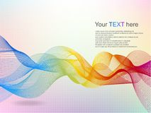 Abstract wave rainbow colored background Stock Image